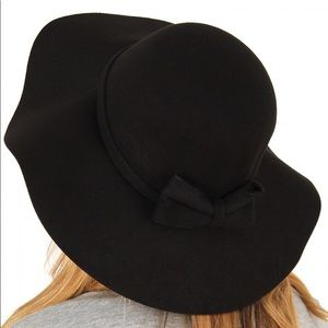 NWT Chatties Black Floppy Black Hat with Bow
